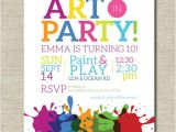 Art Party Invitation Template Art Party Invitation Painting Party Art Birthday Party