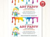 Art Party Invitation Template Art Party Invitation Printable Template Hands In the attic