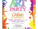 Art Party Invitation Template Art themed Birthday Party Invitations Free Invitation
