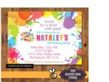 Art Party Invitation Template Download Art Birthday Party Invitations for Your Kids