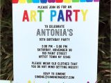 Art Party Invitation Template Free Art Party Printables Invitations Decorations Paint Party