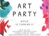 Art Party Invitation Template Free Invitation Templates Free Greetings island
