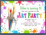 Art Party Invitation Template Free Kids Invitation Templates 27 Free Psd Vector Eps Ai