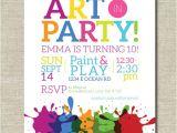 Art themed Birthday Party Invitation Wording Art Party Invitation Painting Party Art Birthday Party
