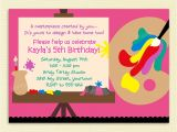 Art themed Birthday Party Invitation Wording Birthday Invites Awesome 10 Art Painting Party