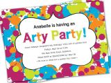 Art themed Birthday Party Invitation Wording Les Enfants Stylish Children S Parties Blog Party