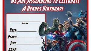 Avengers Birthday Invitation Template Free Avengers Age Of Ultron Printable Birthday Invitation