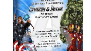 Avengers Birthday Invitations Custom Free Avengers Invitation 1 25