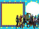 Avengers Party Invitation Template Avengers Free Printable Invitations Oh My Fiesta In