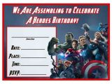 Avengers Party Invitation Template Free Avengers Age Of Ultron Printable Birthday Invitation