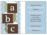 Baby Block Baby Shower Invitations Abc Blocks Blue Baby Shower Invitations