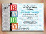 Baby Block Baby Shower Invitations Baby Blocks Baby Shower Invitation Baby Blocks Birthday