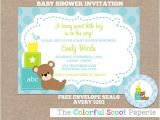 Baby Block Baby Shower Invitations Baby Blocks Baby Shower Invitation Baby Blocks by