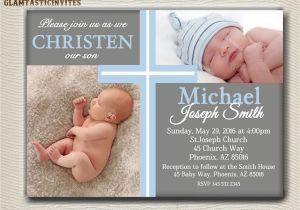 Baby Boy Baptism Invites Baptism Invitations for Boys Baptism Invitations for