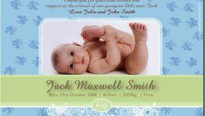 Baby Boy Birth Party Invitation Se390 Birth Announcement Boy Baby Boy Announcement