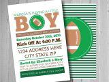 Baby Boy Shower Invitations Sports theme Football Baby Shower Invitation Sports theme