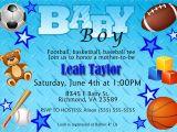 Baby Boy Shower Invitations Sports theme Free Printable Baby Shower Invitations for Boys