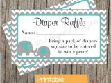 Baby Boy Shower Invitations with Diaper Raffle Diaper Raffle Tickets Baby Shower Aqua Grey Chevron