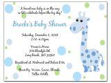 Baby Boy Shower Invitations Wording Ideas Wording for Baby Shower Invitations Template