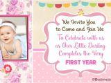 Baby First Birthday Invitation Card Matter Unique Cute 1st Birthday Invitation Wording Ideas for Kids
