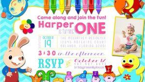 Baby First Tv Birthday Invitations Baby First Tv Inspired Birthday Party Photo Invitation