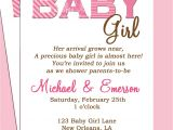 Baby Girl Shower Invitation Wording Examples Baby Shower Invitation Wording