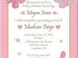 Baby Girl Shower Invitation Wording Examples Girl Baby Shower Invitations Wording
