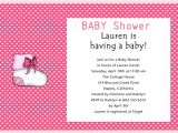 Baby Girl Shower Invitation Wording Examples June 2012