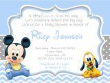 Baby Mickey Shower Invitations Baby Mickey Mouse Baby Shower Invitations