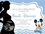 Baby Mickey Shower Invitations Blank Mickey Mouse Baby Shower Invitations