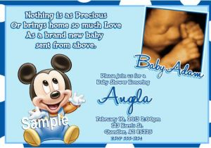 Baby Mickey Shower Invitations Mickey Mouse Baby Shower Invitations Baby Mickey Mouse Baby