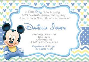 Baby Mickey Shower Invitations Mickey Mouse Invitation Templates – 26 Free Psd Vector