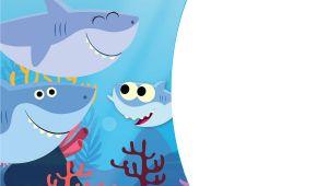 Baby Shark Birthday Invitation Template Free Download Free Printable Baby Shark Pinkfong Birthday Invitation