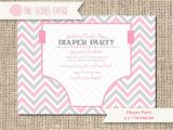 Baby Shower and Diaper Party Invitation Wording Baby Shower Invitation Diaper Party Gender by