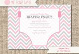 Baby Shower and Diaper Party Invitations Baby Shower Invitation Diaper Party Gender by