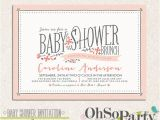 Baby Shower Brunch Invitation Wording Baby Flora Custom Baby Shower Brunch Invitation by Ohsoparty