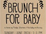 Baby Shower Brunch Invitation Wording Baby Shower Brunch Invitation Simple Boho Gender