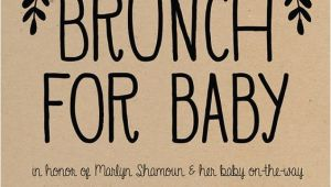 Baby Shower Brunch Invitation Wording Baby Shower Brunch Invitation Simple Boho Gender