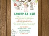 Baby Shower by Mail Invitations Rustic Shower by Mail Baby Shower Invitation Printable