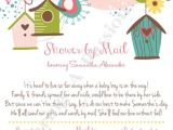 Baby Shower by Mail Invitations Shower by Mail Invitation Long Distance by
