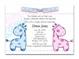 Baby Shower Invit Printable Baby Shower Invitations Twins
