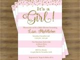 Baby Shower Invitation Ideas for Girls Pink and Gold Baby Shower Invites Its A Girl Baby Shower