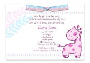 Baby Shower Invitation Ideas for Girls Wording for Baby Girl Shower Invitations