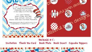 Baby Shower Invitation Packages Dr Seuss Baby Shower Invitation Package