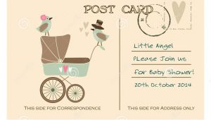 Baby Shower Invitation Postcards Vintage Cute Baby Shower Greeting Postcard Invitation