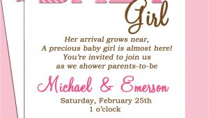 Baby Shower Invitation Sayings for A Girl Baby Shower Invitation Wording