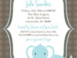Baby Shower Invitation Templates Printable Printable Baby Shower Invitation Elephant Boy Light Blue