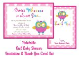 Baby Shower Invitation Templates Printable Thank You Card Printable Templates
