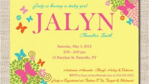 Baby Shower Invitation with Baby Name butterfly Baby Shower Invitation Featuring Baby Name