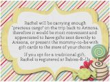 Baby Shower Invitation Wording asking for Gift Cards Baby Shower Invitation Best Long Distance Baby Shower